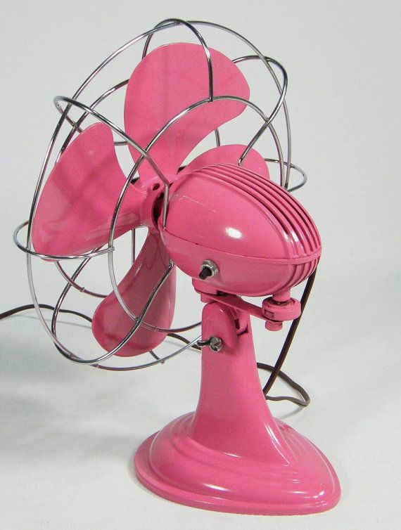1950's retro fan PAINT TWO FANS I HAVE IN FUSHIA PIN, ORANGE TURQOUISE, WHITE NAVY ETC. TO MATCH ROOM