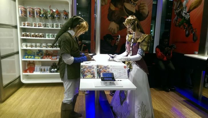 Cool Moment in the Nintendo Store