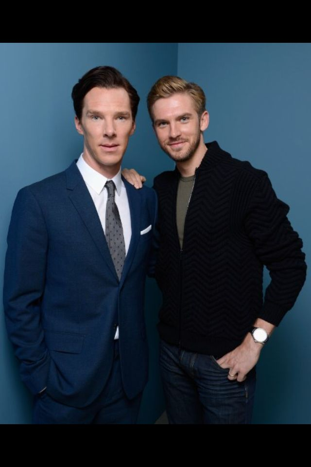 Benedict Cumberbatch and Dan Stevens :) two of the greatest characters together!!! Why wasn't I born in England?!?
