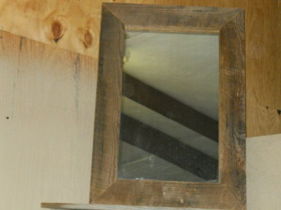 Reclaimed Wood Mirror Small Square Mirror Bathroom Mirror: Barnwood Mirror, Rustic Mirror, Reclaimed Mirror