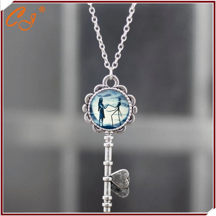 wholesale factory Blue moon Halloween Town Necklace high quality Jack Skellington Pendant Necklace Pendant Freeshipping