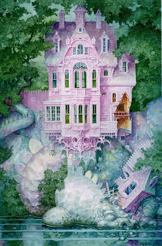 Living on the Dragon's Back ~ Daniel Merriam Watercolorist Extraordinaire