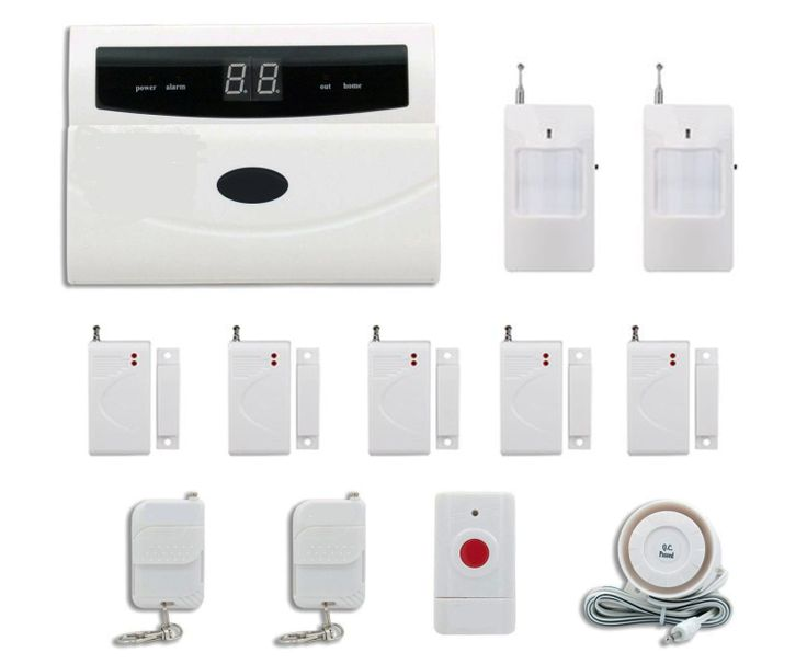 Burglar Wireless Home and Business Security Alarm System DIY Kit with Auto Dial Motion Detectors Panic Button and More for Comp