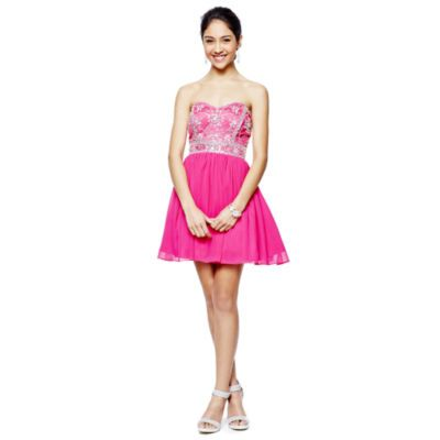 2/24/15 Brand/Designer: Bee Smart Material: Polyester /Tulle Occasion: Party Dress Prom Dress Shoulder: Strapless Neckline: Sweetheart Embellishments: Beaded Jeweled Lined Closure/Back: Back Zipper Size Category: Adult Hand Wash Line Dry