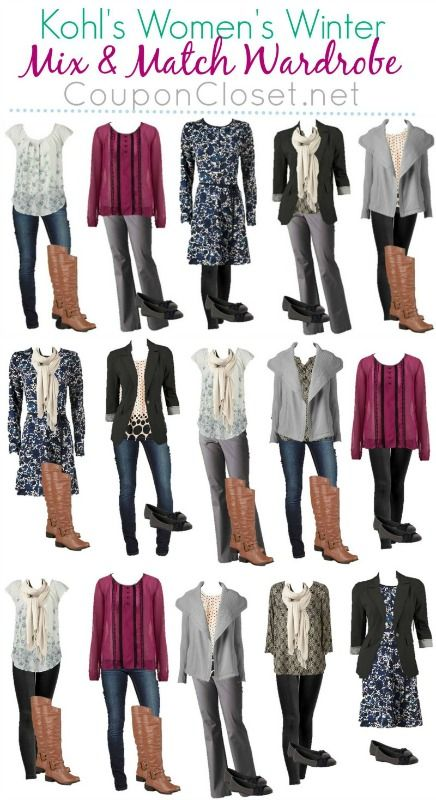 See how you can make 13 pieces of clothing for 15 different fashionable outfits. Plus you can do it all on a budget! :)