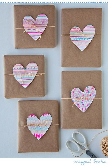 Really cute heart gift wrapping
