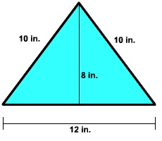 The total space inside the boundary of the triangle is called as the area of the triangle. Area is measured in terms of square unit.The total space inside the boundary of the triangle is called as the area of the triangle. Area is measured in terms of square unit.