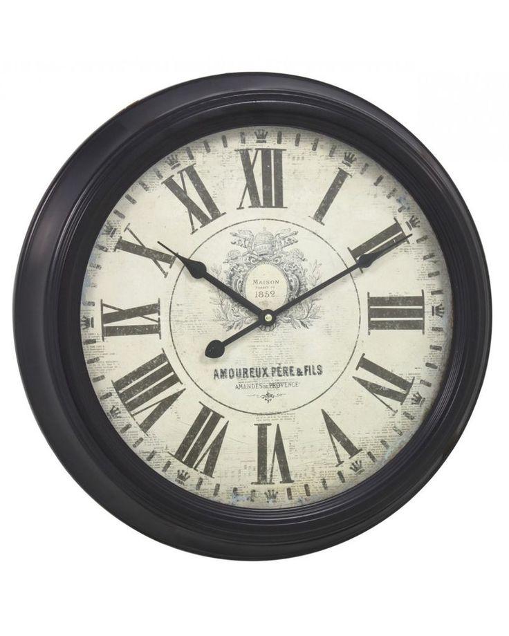 Grande Marrón De Colección Con Estructura De Metal Grueso Reloj De Pared 47cm | eBay