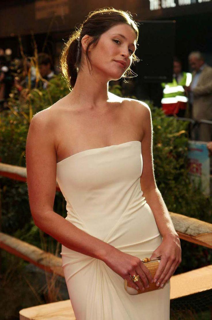 Gemma Arterton Photos in White Dress #8