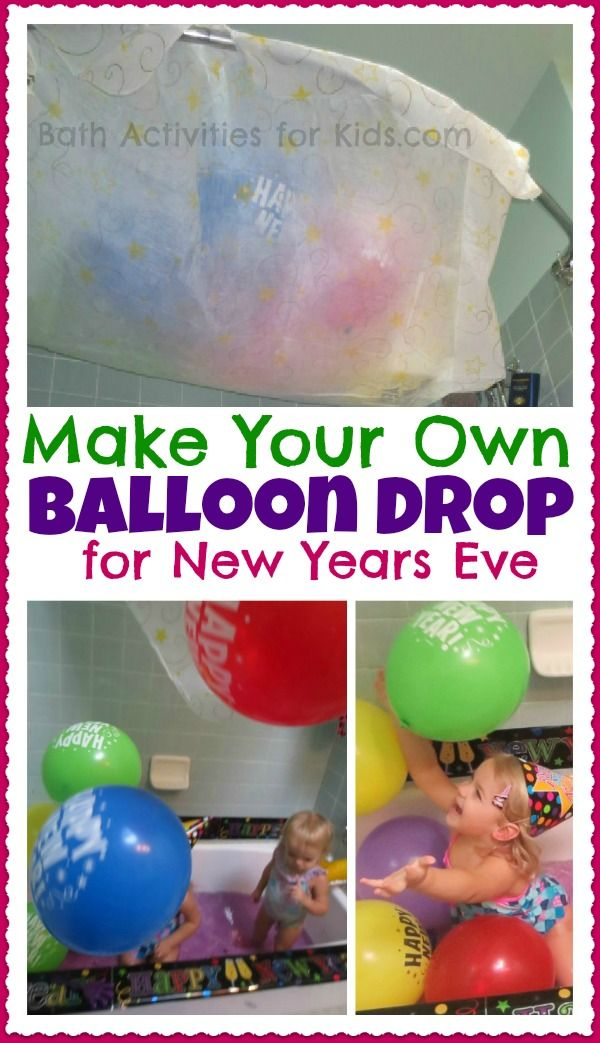 DIY balloon drop for New Years Eve
