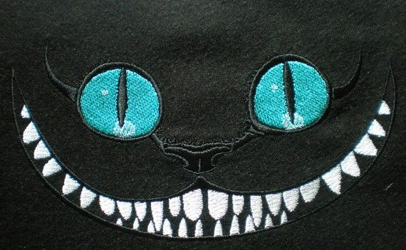 Cheshire Cat from Alice in Wondrland- this would look excellent w/glow in the dark paint on teeth! yep, will do!