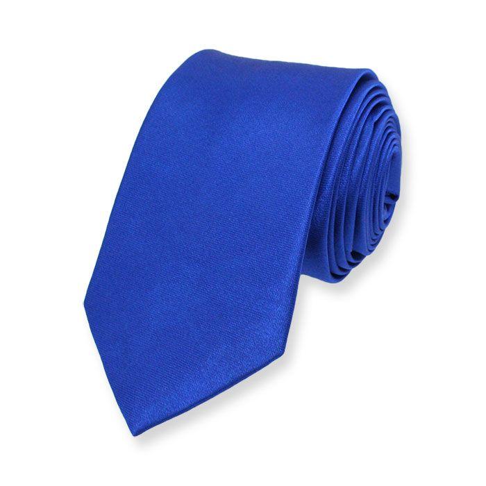 Stropdas Skinny Blauw. Zeer voordelige blauwe stropdas