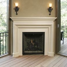 modern life in an antique farmhouse corner gas fireplace design - Corner Gas Fireplace Design Ideas