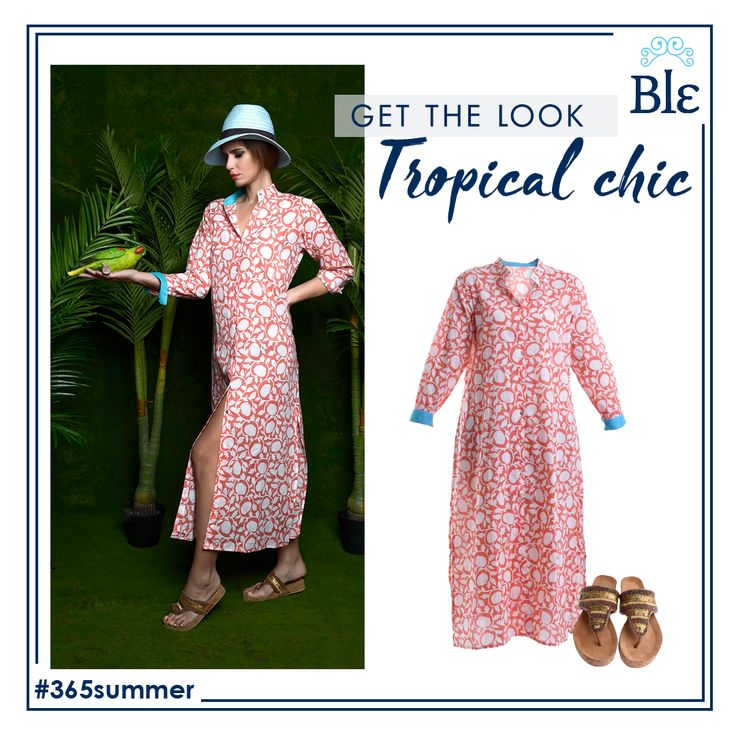 Long #shirtdresses? It's this seasons hot new entry! Tropical patterns in beautiful summery colours and unique details –such as the light blue on the collar and around the wrists- adore chic, long shirtdresses that become your wardrobe's favourites! Get the look at www.ble-shop.com