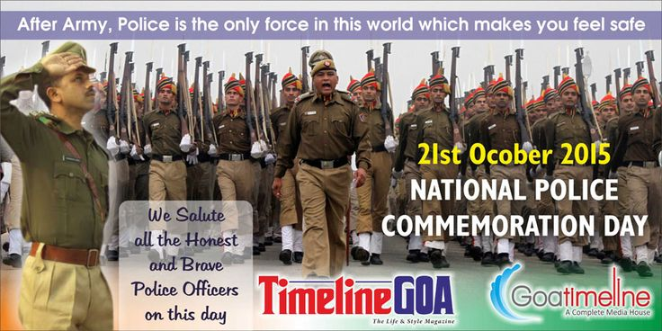 Goatimeline Team salute all the honest and brave Police Officers on the occasion of National Police Commemoration Day