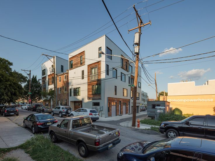 The massing for this residential development by ISA was driven by its varied types of living units, from apartments and duplexes to three-storey townhomes.