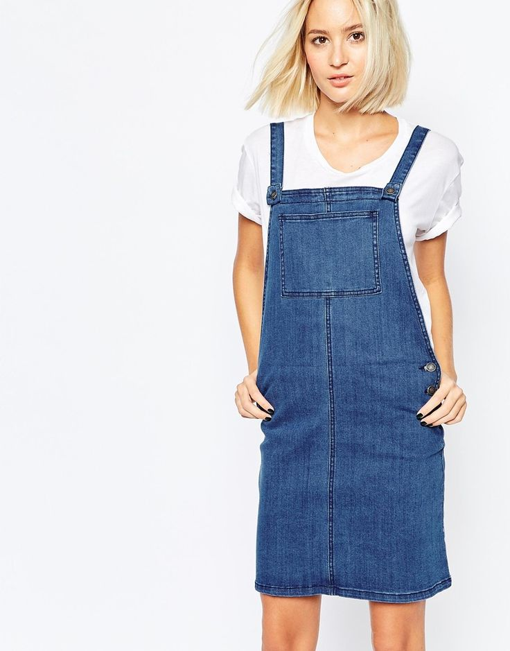 Vero Moda Denim Dungaree Dress