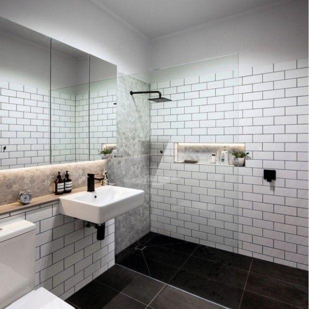 Bathroom Wall Panels Brick Effect in 2020 | Gray bathroom ...
