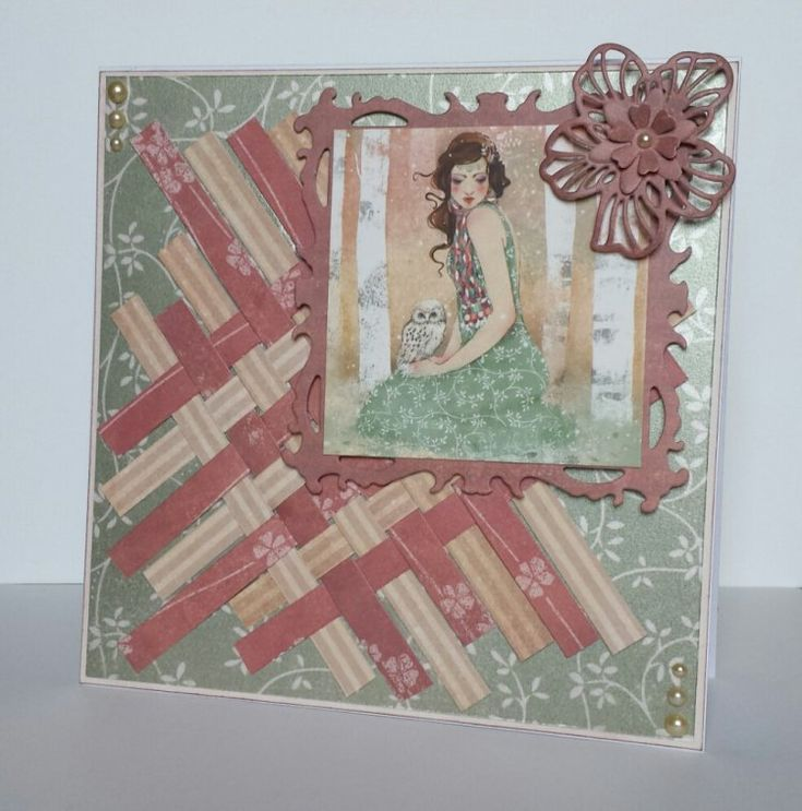 Scrapbooking project - Trimcraft - Santoro Willow collection