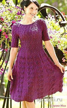 Un vestido hermoso estalló.  - Agujas de tejer - casa las mamás