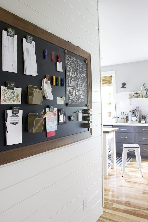 the-inspired-room-chalkboard-command-center-bulletin-board-shiplap-walls