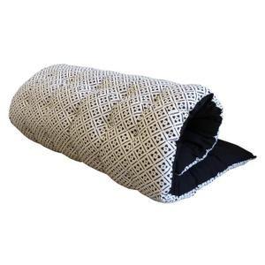 Matelas de sol imprimé bicolore Clover 100% coton 60x120 cm noir et blanc