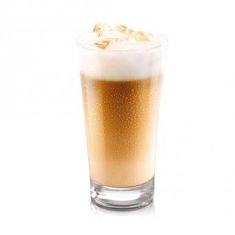 Ananászos Cappuccino Ice  Hozzávalók.:  0,5 dl ananászlé.  1 kapszula Dolce Gusto Cappuccino Ice.  3 cl fehér rum.  Ízlés szerint cukor.  Elkészítés.:  Az ananászlevet, és a fehér rumot töltsük egy cappuccinos pohárba, majd egyszerűen csak készítsük el a Dolce Gusto Cappuccino italunkat a megszokott módon.  A jégkockákat ne felejtsük el!  A pohár szélére tegyünk egy szelet ananászdarabkát díszítésnek.