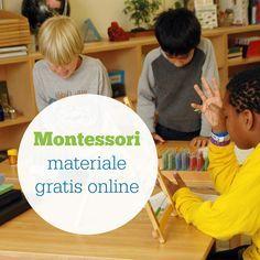 Una selezione di materiale Montessori disponibile gratis online. Utilissima.