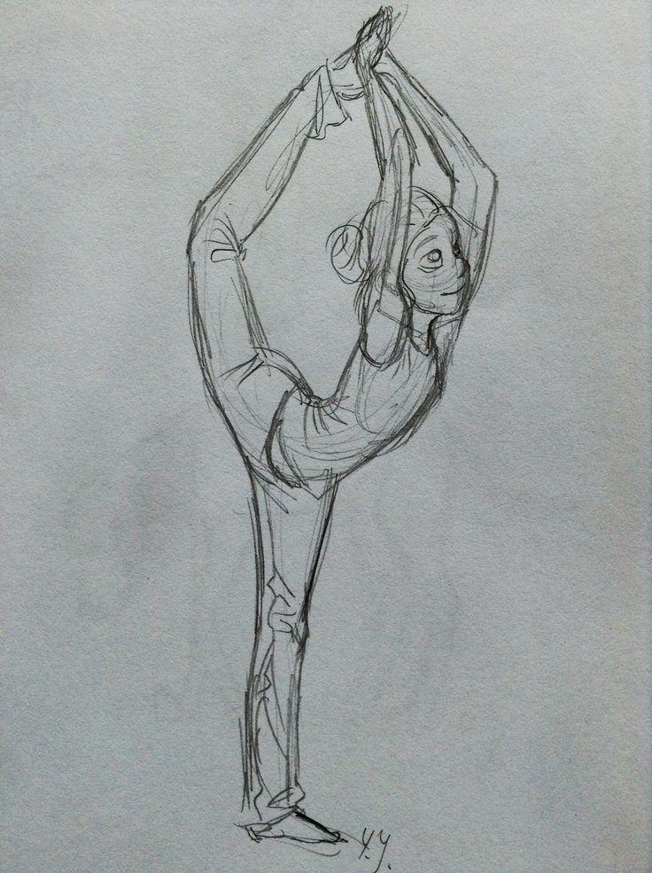 Gymnastic girl sketch. By Yenthe Joline.