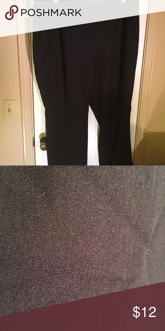 "Petite Women's plus size slacks ""Audra"" Slacks with herringbone pattern Liz Claiborne Pants Trousers"