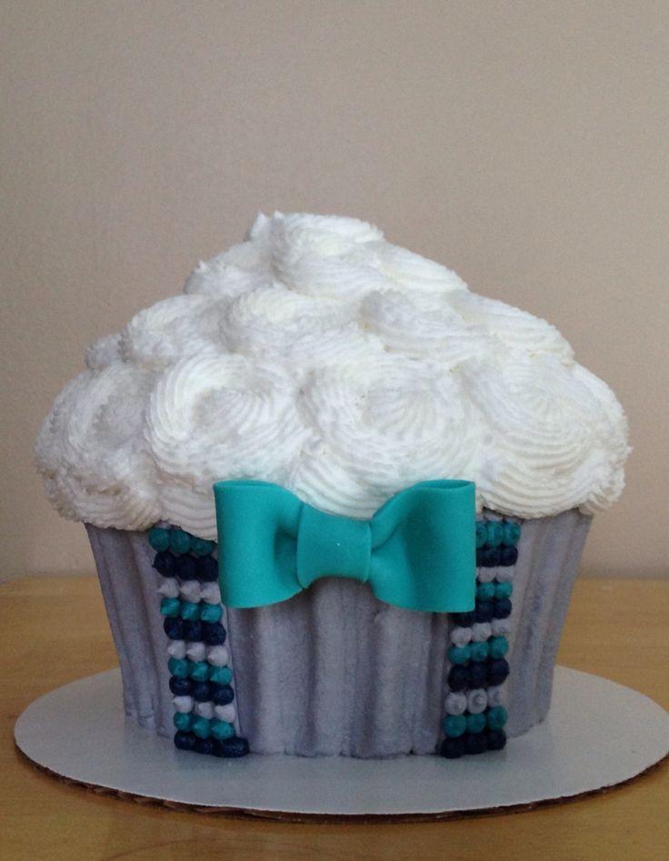 Bow tie, Suspenders, Giant Cupcake Cake