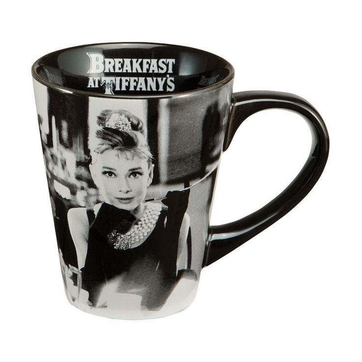 This mug makes a great gift for any fan of Audrey Hepburn. This generous 12-ounce ceramic mug has a comfortable handle and is made of durable, BPA-free stoneware. Enjoy your morning cup of coffee or t