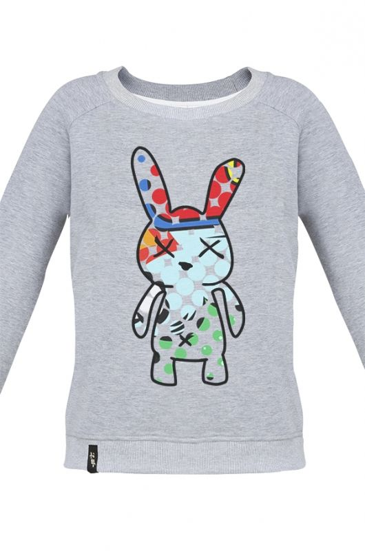 MATRYOSHKA BOOM BOOM BUNNY Very feminine sweatshirt made of high quality fabric in heather gray. Beautifully finished, with a fashionable cut, specially designed with comfort in mind and to meet the exacting demands of its user. Composition: 90% cotton, 10% polyester. Digitally printed, very durable. Graphic was created by Meet The Llama specially for pyjama and chillout lifestyle lovers. The series of graphics from MTL is cheerful and laid-back. #meetthellama #sweatshirt #women #graphic…