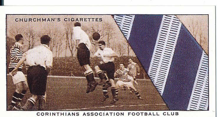 Churchman Cigarette Cards, 'Well Known Cards' edition, 1934, showing Corinthian FC club tie.