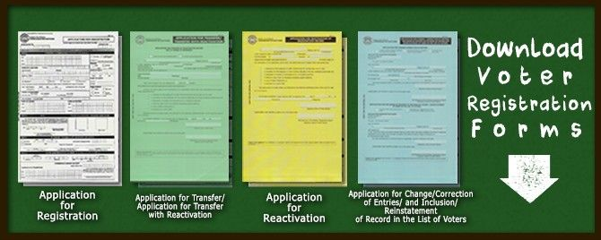 Download Voter Registration Forms  Comelec    Voter