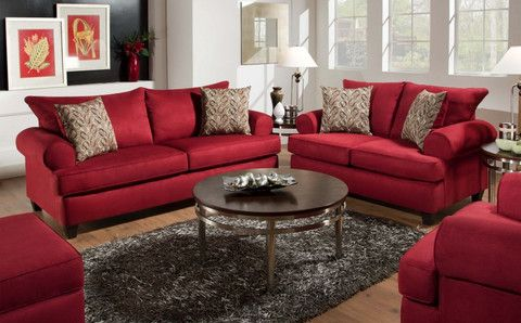 Giselle Loveseat Red from Huffman Koos