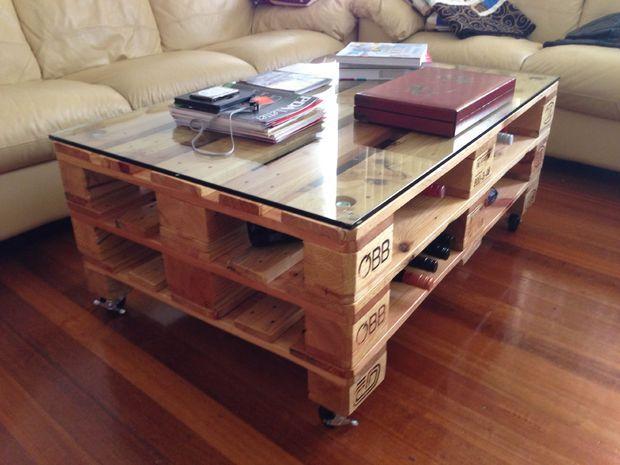 Une table basse en palettes style industriel