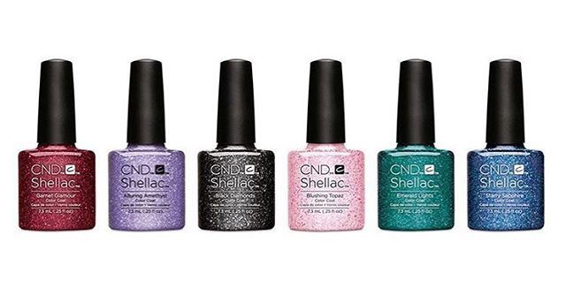 """CND Shellac """"Starstruck"""" Collection available at California Nails & Beauty Lounge in Stavanger Norway #nails #negler #norge #norway #stavanger #naglar #glitter #californianails #shellac #cnd"""