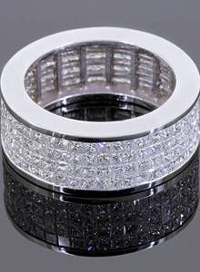 Rafaello & Co Eternity Wedding Band with White Diamonds in White Gold