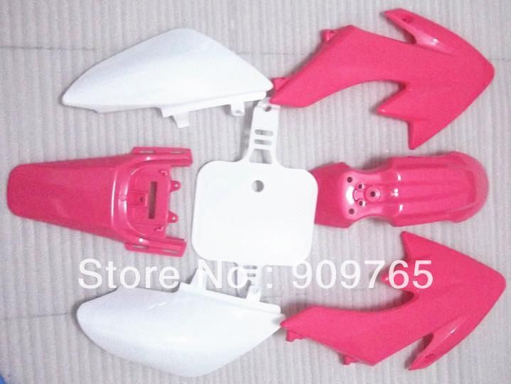 [Visit to Buy] Free Shipping New Pink PLASTIC KIT FENDER For HONDA CRF 50 XR 50 XR50 CRF50 Dirt Bike Pit Bike #Advertisement