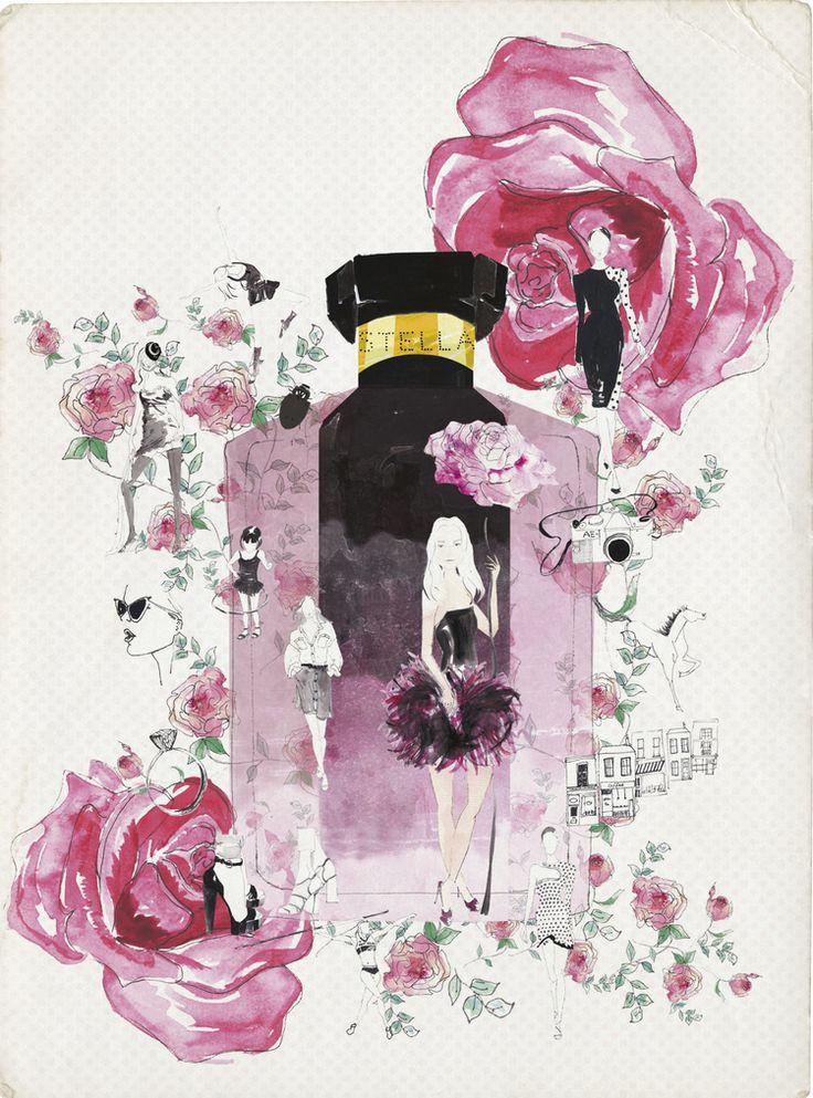 Stella McCartney Perfume 'STELLA'... — Sarah Smart Illustration; @sarahsmartdraws