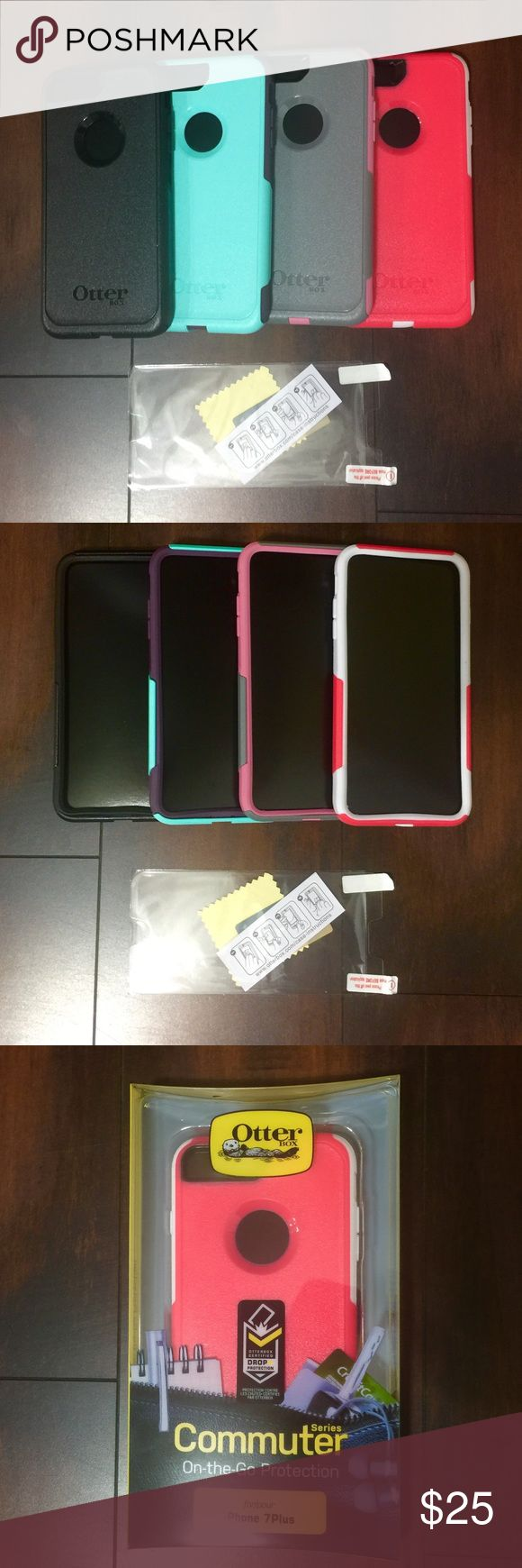 7/7Plus iPhone Otter Box Commuter Case Fit on iPhone 7  and 7 Plus. Came with retail packing.Are new unused. I don't trade but I will happy to considerate your offers..The price is for one case. Accessories Phone Cases