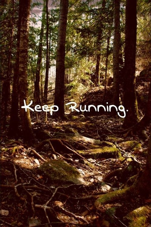 Keep running---This will be Autumn Gruber and I on May 18th! Twisted Ankle Trail