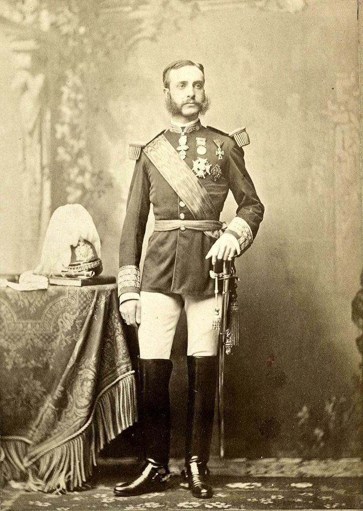 El rey Alfonso XII de España.