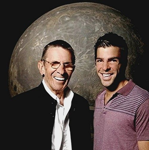 The two Spocks! Quinto + Nimoy! | Star Trek Great recasting! #startrek #behindthescenes