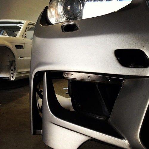 1/M/3 hybrid bumper mock up. Wrapped with #Avery films! #m3conversion #335i #e90 #e92 #bmw #m3 #bmwspecialist #bmwtuning #platteforme #platteformeag | Platte Forme a.g. BMW