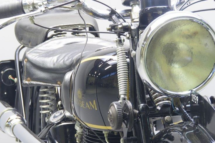 """Sunbeam 1939 """"High Camshaft"""" model B25 S 498 cc OHV frame# 974 engine# B25 SE698 In the mid-thirties Sunbeam parent company ICI ( Imperial Chemical Industries) decided to dispose of the hardly profitable cycle and motorcycle side. AMC bought the business in 1937: their main interests being the bicycle dealer network and the well-established famous """"Sunbeam"""" name. ... Read more"""