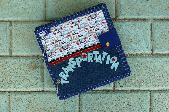 If your little boy is any like mine, he will love this transportation quiet book. The listing is for 4 page book with option to extend it up to 14 pages. Please select the number of pages from drop down menu Number of pages. The covers are included, please dont count them as pages. One page is one sided activity page.  Featured transportation in the example book: Rocket Plane and Helicopter Car Firetruck Police car Boat and Submarine Excavator and Truck Train  You can see the book in details…