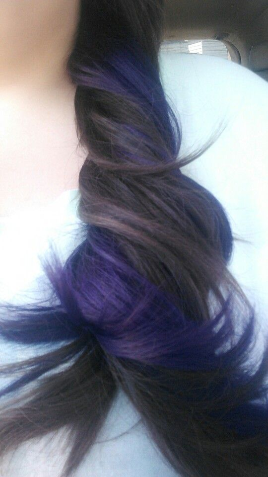 Purple underneath