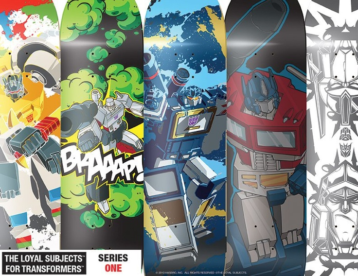 Transformers skate decks by Sket-One x The Loyal Subjects